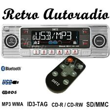 AUTORADIO Retro Style USB SD MMC AUX IN CD MP3 WMA für Mercedes W114 Strich 8