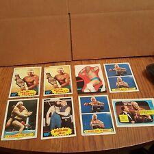 1985 Topps WWF WWE Wrestling Rookie Cards Hulk Hogan RC Lot 8