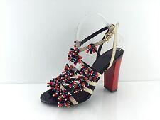 Tory Burch Women's Ivory/Multi Color Heels 7.5 M
