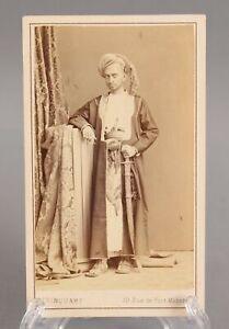 RARE Antique 19thC CDV Photograph India Maharaja Royalty & Sword NO RESERVE