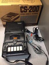 Superscope CS-200 Portable Stereo Cassette Recorder Excellent In Original Box