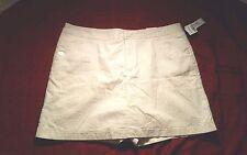 Shorts Skirt combo Size 12P tan white mid rise NEW Dockers