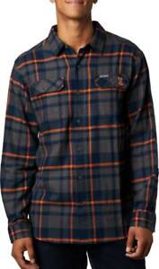 Columbia Men's Collegiate Flare Gun Flannel Illinois Fighting Badgers Size XL