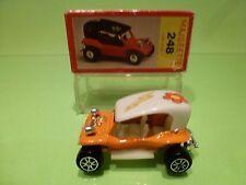 MAJORETTE 248 DUNE BUGGY - ORANGE 1:55 RARE - VW - NEAR MINT IN BOX