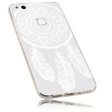 mumbi Hülle f. Huawei P10 lite Schutzhülle Traumfänger Case Tasche Transparent