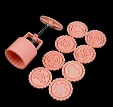 Ship From US Seller Mooncake Moon Cake Mold Cookie Cutter 50g  8 Stamps