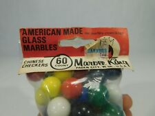 Vintage Bag of Marble King Chinese Checker Marbles New Old Stock Sealed Solids
