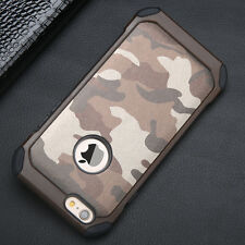 Luxury Camouflage Hybrid Armor Shockproof Phone Case Soft Silicone Bumper Cover