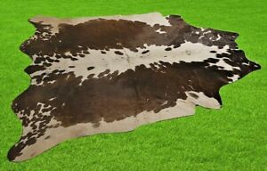 "New Cowhide Rugs Area Cow Skin Leather 24.57 sq.feet (61""x58"") Cow hide U-1669"