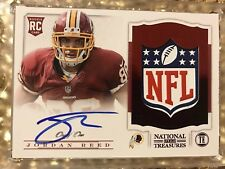 Jordan Reed 2013 National Treasures 1/1 NFL Shield Rookie Patch Auto RC JSY AU
