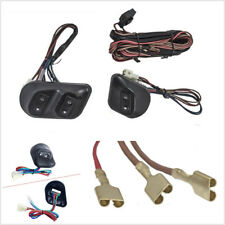 3 Pcs Button Car Power Window Motor Switch w/Wire Harness Kit For 2-Door SUV Van