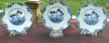 "3 Stafford SOL J&G Meakin Art Nouveau Flow Blue 6-1/2"" Plates. Display Plate."