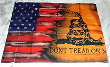 """New """",Don't Tread On M """" Garden Flag Banner 18"""" x 12"""" Nylon Rattle Snake"""