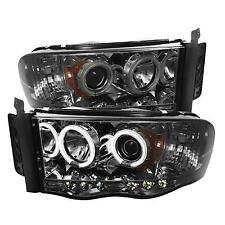 03-05 DODGE RAM 2500/3500 SPYDER SMOKED PROJECTOR HEADLIGHTS W/ CCFL HALO...