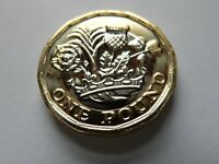 Royal Mint 2016  £1 One Pound Coin - 12 Sided Brilliant Uncirculated + Wallet UK