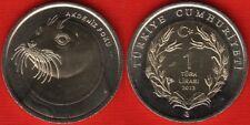 "Turkey 1 lira 2013 ""Monk Seal"" BiMetallic UNC"