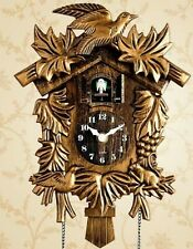 Bird Wall Clock Home Alarm Watch Gold Modern Living Room Decorations New