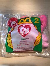 Mini Ty McDonald's Teenie Beanie Babies Plush Toy # 2 Pinky, new, sealed