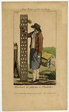 Antique Master Print-GENRE-SELLER-BOTTLE RACKS-STREET CRIES-Anonymous-ca. 1820