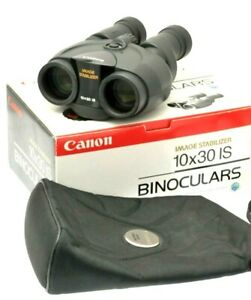 Canon 10x30 IS Image Stabilised Binoculars in Black  Boxed with Case