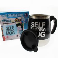Auto Self Stirring Mug Tea Coffee Cup Novelty Ideal 4 Work Office Gift 450ml Black
