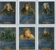 Lord Of The Rings  -  Autograph And Memorabilia Card Selection NM Topps Chrome