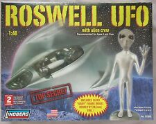Roswell Ufo Space Ship With Alien Crew Plastic Model Kit NEW