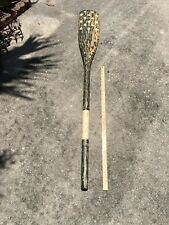 Pottery Barn Hanging Wooden Oars American Flag Motif Large Heavy Solid Wood Wow!