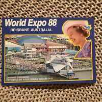 World Expo 88 - Brisbane, Australia - Queen Elizabeth - Vintage Postcard