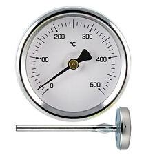 Pirometro termometro per forno con gambo da cm 5,5 in acciaio inox 500°C - Rotex