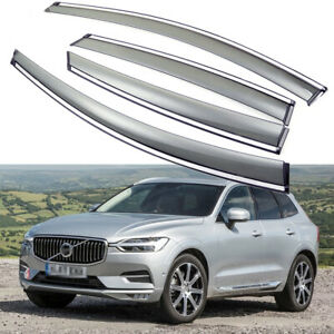 4x Car Window Visor Vent Deflector Sun/Rain Guards for Volvo XC60 2018 2019 2020