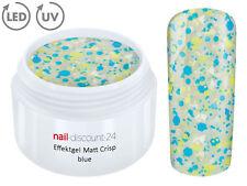 UV LED GEL MATT CRISP Effekt BLUE Glitzer Farbgel Color Nail ModellageNagel Blau
