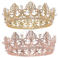 Wedding Bridal gold plated Crystal Jewelry Rhinestone Pageant Tiara Crown Party
