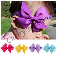 Baby Girls Hairband Bow Soft Head Elastic Band Headband Ribbon Hair Accessories
