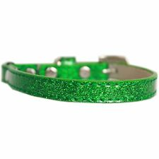 Mirage Pet Products Ice Cream Plain Cat safety collar Emerald Green Size 10