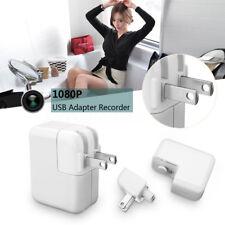 HD 1080P Spy Camera USB Wall Charger Mini US Plug AC Adapter Nanny Camcorder DVR