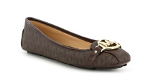 Michael Kors Fulton Moc Brown Logo Ballet Flat Women's sizes 5-11/NEW