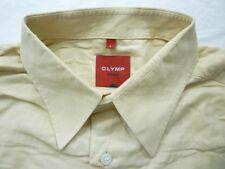 E8026 Olymp Novum Businesshemd Kombimanschette L beige gestreift Neuwertig