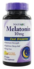 Natrol - Melatonin Fast Dissolve Citrus Punch Flavor 10 mg. - 60 Tablets