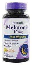 Natrol - Melatonin Fast Dissolve Citrus Punch Flavor 10 mg. - 60 Tablets