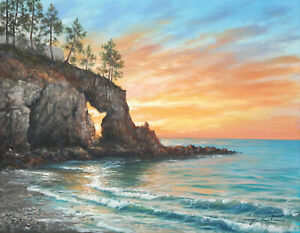 J. Litvinas Original Oil Painting 'BAY' 18 by 14 inches