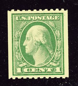 U.S. STAMP  #486 COIL  -- 1c WASH-FRANK -- ROT, p10H, UNWK — 1918 — MINT
