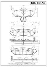 Disc Brake Pad Set-Metallic Pads Rear Pronto PMD1041