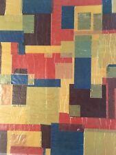 Grand Collage Sur Papier Non Signé Art Abstrait Abstraction 1960 Géométrique