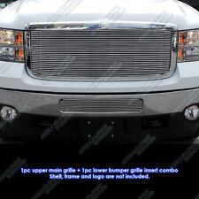 For 2011-2014 GMC Sierra 2500/3500 HD Billet Grille Grill Insert Combo
