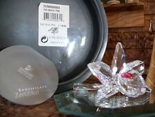 "Swarovski Silver Crystal ""Dark Pink ORCHID"", Var. 3,  W/BOX & COA MINT"