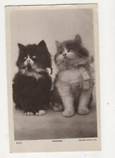 Cats Engaged Vintage RP Postcard 092b