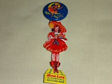 Miller High Life Beer Pin Back Button With Celluloid Hanger #767