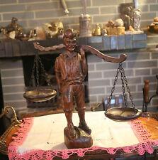 Edle Justitia Figur  Holz JUSTIZ RECHTSANWALT RICHTER GERECHTIGKEIT SKULPTUR