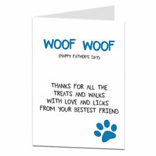 Funny Father's Day Card From The Dog Animal Pet Theme